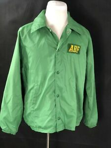 VTG Green Windbreaker Jacket  ABF Arkansas Best Freight Safety Award Large