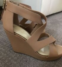JESSICA SIMPSON Jenay Wedge Open Toe Platform Sandals, Size 6