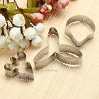 3x Stainless Steel Orchid Pastry Cookie Biscuit Cutter Cake Decorating Mold Tool