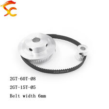 Timing Belt Pulley GT2 60teeth 15teeth Bore 8mm&5mm Belt width 6mm CNC Parts
