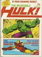 The Incredible Hulk #13 : June 1982 : Vintage Marvel UK Comic Book..