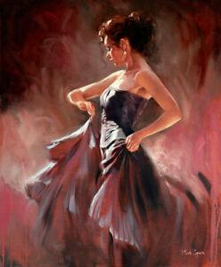 "Mark Spain Dancer wall art Canvas Picture Print 30""x20"""