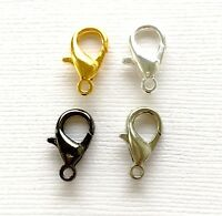 14mm Gold /Silver Plated/ Black Lobster clasps Claw hooks jewelry findings DIY