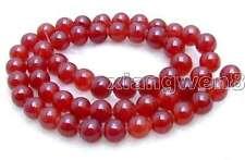 "SALE  8mm Round High quality Red jade gemstone beads strands 15""-los371"