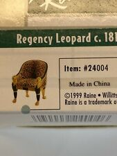 "Take a Seat by Raine ""Regency Leopard c.1810"" 1999 New In Box w/Coa"