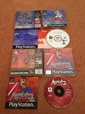 THE ADVENTURES OF ALUNDRA 1 + 2 SONY PLAYSTATION 1 PS1 GAMES WITH MANUALS VGC