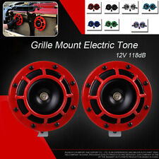 Pair Loud Compact Electric Blast Super Tone Hella Horn + Relay For CAR/TRUCK 12V