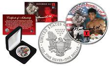 MUHAMMAD ALI Licensed 1oz SILVER AMERICAN U.S. EAGLE in Coin Display Box