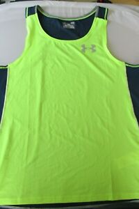 NEW UNDER ARMOUR COOLSWITCH FITTED SLEEVELESS  RUNNING MENS SINGLET F8/3005