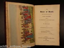 1816 Dance of Death Hans Holbein Hollar Engravings OCCULT Macabre Skeletons ART