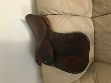 "Beautiful Crosby XL hunt seat saddle - great for equitation 16.5"" seat NICE"