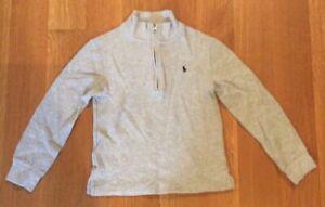 Polo Ralph Lauren Boys Grey Sweatshirt - Zip-up - Size 7