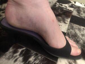 Ladies Pierre Fontaine Heels Black - Size 10