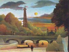 Peinture henri rousseau-seine eiffelturm abendsonne 1910 art imprimé HP2340