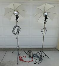 NORMAN 202 PHOTOGRAPHY FLASH POWER PACK WITH NORMAN LH2 HEADS, UMBRELLAS, STANDS