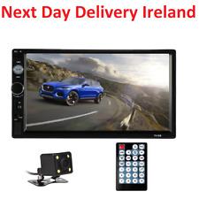 7'' Bluetooth Car Van FM Radio Stereo 2DIN Aux 2 Din Rear View Camera Remote