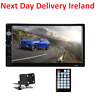 7'' Bluetooth Car Van FM Radio Stereo 2DIN Aux 2 Din Rear View Camera Remote