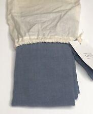 Restoration Hardware Garment-Dyed Linen Sham Euro 100% Linen Blue NEW $119