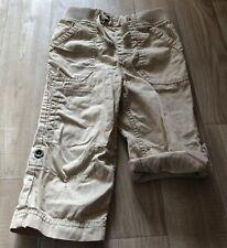 Boys Beige Adjustable Leg Trouser 3/4 Lengths Size 18-24 Months
