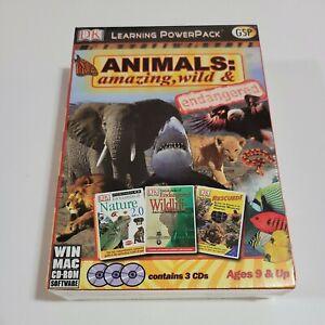 Animals Amazing Wild & Endangered PC & Mac (3 CD Set), New & Factory Sealed