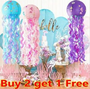 Mermaid Party Hanging Jellyfish Lanterns Under the Sea Theme Party Decorations