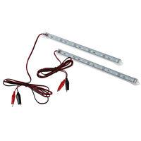 2pc 12V Car 15 LED 5630 SMD Interior Light Strip Lamp Bar Van Caravan Fish S2Y7