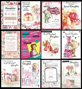 DAUGHTER ~ QUALITY BIRTHDAY CARD Choice of Design Cute Traditional