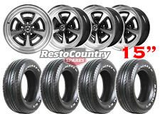CTM GTS Wheel + Tyre Kit x4 15x7 15x8 STAGGERED Holden HQ HJ HX HZ WB Galaxy R1