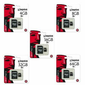KINGSTON 8GB 16GB 32GB 64GB 128GB MICRO SD MEMORY CARD AND ADAPTER UK SELLER
