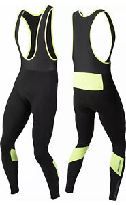 PEARL iZUMi Men's Bicycle Cycle Pursuit Thermal Cycling Bib Tight Black / Yellow