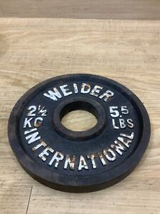 Single Vintage Weider International 5.5 LB Olympic Weight Plate 5 1/2 LB