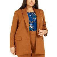 CALVIN KLEIN Women's Plus Size Open-front Lined Ponte Blazer Jacket Top TEDO