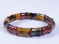 "G0369 16mm Multi-color tiger's eye beads bracelet 8"""