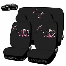 NEW SPRING LOVE DESIGN FRONT REAR LOW BACK SEAT COVERS 8PC SET FOR CARS 1882