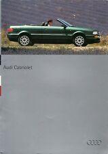 Audi Cabriolet 1994 UK Market Sales Brochure 2.0E 2.6E