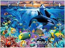 TROPICAL FISH DOLPHINS OR CA KILLER  WHALES  COMPUTER MOUSE PAD 9 X 7