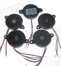 5x 24mm Cased Piezo Disc Projects Unltd Audio Transducer 3 Lead for Buzzer Alarm