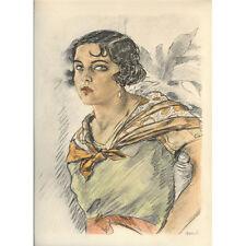 Print - Edouard Chimot: La Gitane - Ready to frame