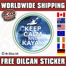 KEEP CALM AND KAYAK car / canoe sticker  85mm x 85mm