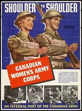 WW2 RECRUITING POSTER CANADIAN WOMEN'S ARMY CORPS CANADA NEW A4 PRINT