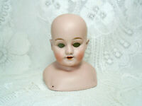 Antique Simon & Halbig doll head, turned bisque head, 1010 S&H, shoulderplate