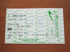 Chris Barber Autographed Concert Ticket From Corby Willows Arts Centre 28.5.04