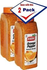 2 Pack Badia Orange Pepper Seasoning for Pork Poultry Seafood 26 oz ea