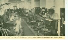 DETROIT,MICHIGAN-HR LEONARD FURNITURE CO-B/W-INTERIOR-FIRST FLOOR(STORE-361*)