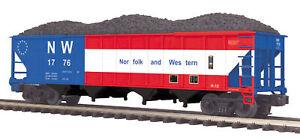 MTH Trains 20-97757 Norfolk Western 4-Bay Hopper w/ Load Road No 1776 O Scale