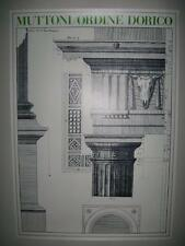 ARCHITECTURAL PRINT OF A DORIC COLUMN BY ANDREA PALLADIO 1740-1748 VENICE (MINT)