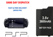 Extended Battery Pack for Sony PSP 2000 Lite & Lite 3000 3600mAh Replacement