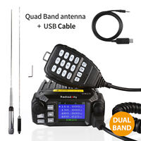 Radioddity DB25 *Pro* V/UHF Dual Band 25W Car Mobile Radio Transceiver & Antenna