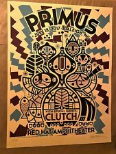 2017 Primus & Clutch- Raleigh Cream Variant Concert Poster by Don Pendleton