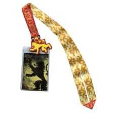 Game of Thrones House Lannister Lanyard W/ PVC Charm